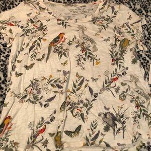 Lucky brand paradise bird shirt size 2x NWT